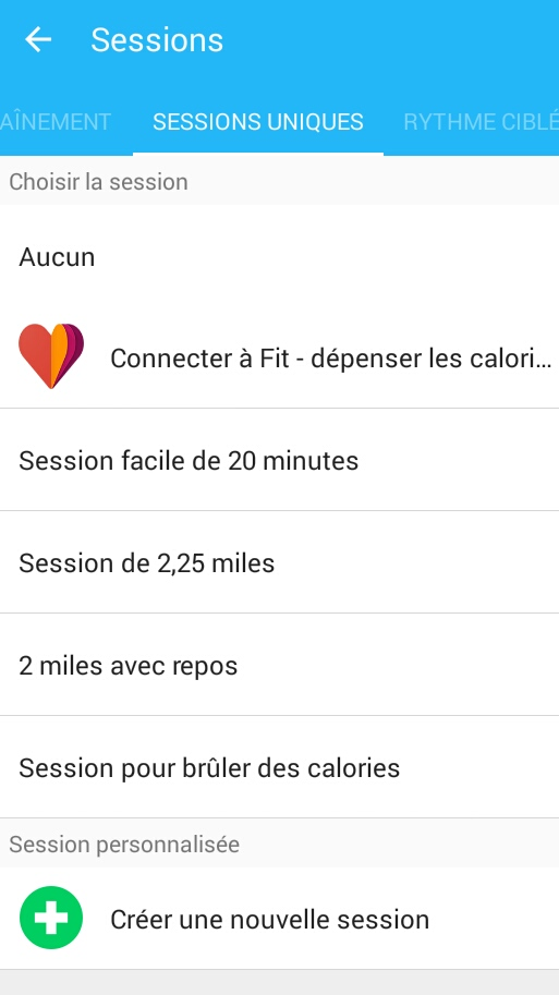 session unique runkeeper